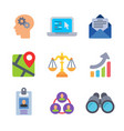 finance and business colored trendy icon pack 1 vector image