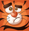 funny cute crazy tiger character vector image