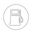 gas pump oil station icon design vector image