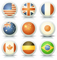 glossy flags icons set