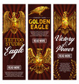 golden eagle tattoo studio banners vector image vector image