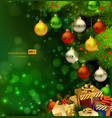 Green christmas background vector | Price: 3 Credits (USD $3)
