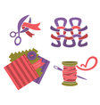 hand made and craft collection vector image