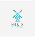 helix and windmill logo icon template vector image