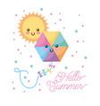 hello summer cartoon vector image vector image