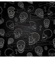 human skulls seamless pattern vector image vector image