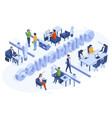 isometric coworking concept freelance business vector image