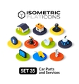Isometric flat icons set 35
