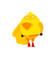 lemon fruit hero superhero character guard vector image
