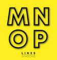 letters linear design set letter m n o p vector image