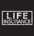 life insurance word vector image
