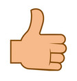 like or thumb up internet approval sign or emoji vector image vector image