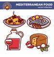 mediterranean food collection of special vector image vector image