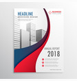 modern red and blue wave business brochure vector image vector image