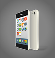 Modern smartphone with different color icons vector image vector image