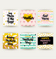 mothers day trendy postcards vector image vector image