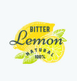 natural bitter lemon abstract sign symbol vector image vector image