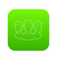 office team icon green vector image