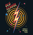 old school dance party poster in retro design vector image vector image