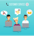 operators call center office working in vector image