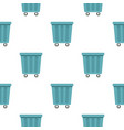 outdoor blue trash can pattern seamless vector image vector image