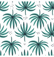 palm split leaves hand drawn seamless pattern vector image