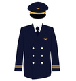 Pilot uniform vector image