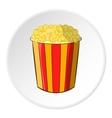 Popcorn icon cartoon style vector image vector image