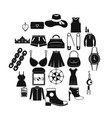 possessions icons set simple style vector image