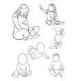 pregnancy and babies line art 01 vector image vector image