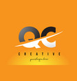 qc q c letter modern logo design with yellow vector image vector image