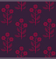 seamless stylized graphical chamomile pattern vector image