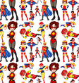 Seamless superhero male and female vector image