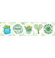 set icons for natural products vector image vector image