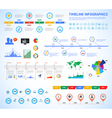 Set of timeline Infographic with diagrams and text vector image vector image
