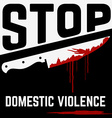 stop domistic violence vector image