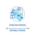 store and forward concept icon vector image vector image