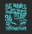 Surf graphic t-shirt printing lettering design