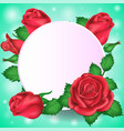 valentines day greeting card round banner and vector image