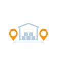 warehouse storage unit icon vector image vector image