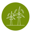 wind turbine icon in thin line style vector image vector image