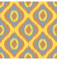yellow Seamless Camouflage Ogee in Ikat Weave vector image vector image