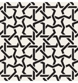 Seamless Black White Geometric Inrerlacing vector image