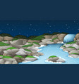 a nature stream landscape vector image