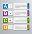 Abstract 3d paper infographic elements vector image