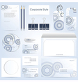abstract corporate style vector image vector image