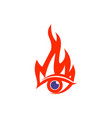 abstract eye fire logo icon vector image