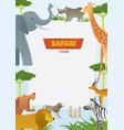 african safari animals frame vector image