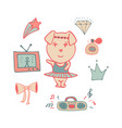 amusing pink pig the dancer in a tutu vector image