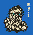 angry zombie monster face horror image vector image vector image